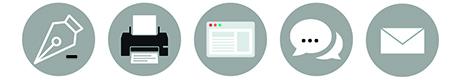 NJ Communication - supports de communication print (carte de visite, plaquette, flyer, ...) et digitale (site internet, emailing, réseaux sociaux, référencement)