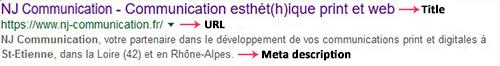 méta-données (title et description) pour le seo